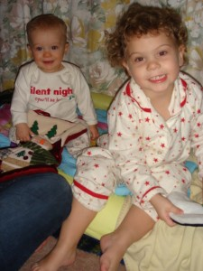 First Christmas ever with our 2 little monkeys in 2006