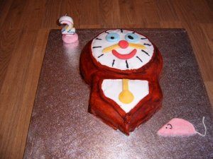 The last normal cake I made in our household for G's 2nd
