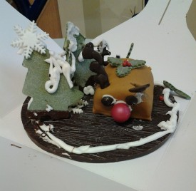 M's amazing chocolate Christmas creation