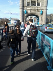 We even managed a trek across Tower Bridge on our travels