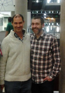 Mike & his hero Dave Gorman - last year's birthday pressie. Wonder what this year will bring?