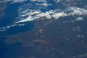 Wales from space, courtesy of UK astronaut, Tim Peake