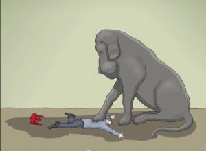 black-dog-step-on-you